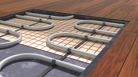 New underfloor heating installation